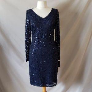 Marina Navy Sequined Dress